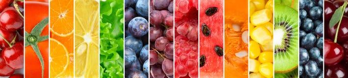 Hintergrund von frischen Obst und Gemüse von lizenzfreie stockfotos