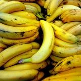 Hintergrund von gelben Bananen Stockbild