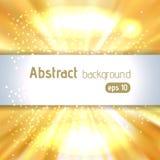 Hintergrund von gelben leuchtenden Strahlen mit Platz für Text, Vektor I Lizenzfreie Stockfotos