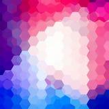 Hintergrund von geometrischen Formen Buntes Mosaikmuster Lizenzfreie Stockfotos