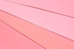 Hintergrund von geometrischen Formen des farbigen Papiers Lizenzfreie Stockfotos