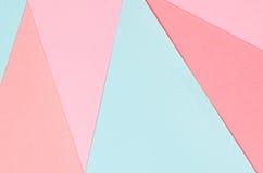 Hintergrund von geometrischen Formen des farbigen Papiers Stockbilder