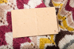 Hintergrund von gestrickten Geweben Lizenzfreie Stockbilder