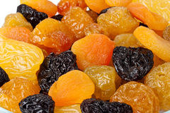 Hintergrund von getrockneten Früchten stockbild