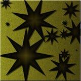 Hintergrund von goldenen Sternen mit Beschaffenheit stockbild