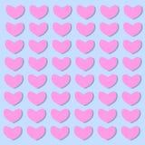 Hintergrund von Herzen in den Valentinstagvektorillustrationen stock abbildung