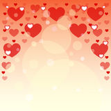 Hintergrund von Herzen für Postkarten Zwei verklemmte Innere Auch im corel abgehobenen Betrag Lizenzfreies Stockfoto