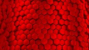 Hintergrund von Hexagonen stock video