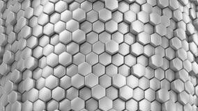 Hintergrund von Hexagonen stock footage