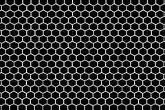 Hintergrund von Hexagonen Stockfoto