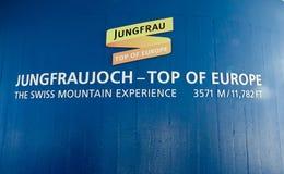 Hintergrund von Jungfraujoch-Spitze stockfotografie