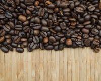 Hintergrund von Kaffeebohnen Stockbilder