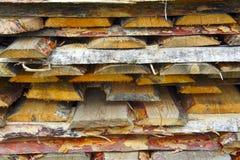 Hintergrund von Klotz und von Planken Stockbilder