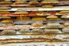 Hintergrund von Klotz und von Planken lizenzfreie stockfotos