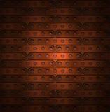 Hintergrund von langen Platten im steampunk stock abbildung