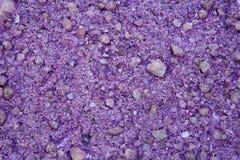 Hintergrund von Lavendelsalzkristallen Lizenzfreie Stockbilder