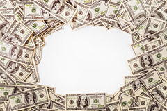 Hintergrund von $ 100 mit Raum für Text Lizenzfreies Stockfoto
