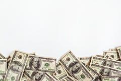 Hintergrund von $ 100 mit Raum für Text Lizenzfreies Stockbild