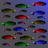 Hintergrund von multi farbigen Autos Stockfotografie