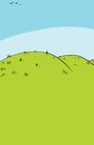 Hintergrund von Rolling Hills Lizenzfreies Stockfoto