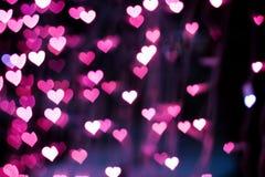 Hintergrund von rosa Herzen Lizenzfreie Stockfotografie