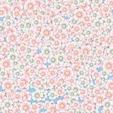 Hintergrund von rosa und weißen Kirschblüten Lizenzfreies Stockfoto