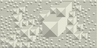 Hintergrund von Schatten von Weiß in Form eines rechteckigen grafischen geometrischen volumetrischen Mosaiks vektor abbildung