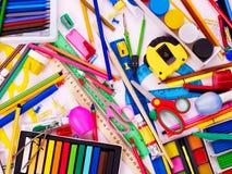 Hintergrund von Schulezubehör. Lizenzfreie Stockbilder