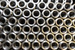 Hintergrund von Stahlrohren Lizenzfreies Stockfoto