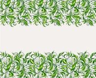 Hintergrund von stilisierten Blättern Stockfotografie