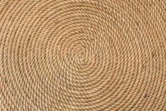 Hintergrund von verdrehtem in einem Kreisseil Stockbild