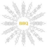 Hintergrund von verschiedenen Kebabs stock abbildung