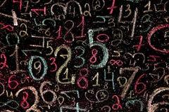 Hintergrund von Zahlen von null bis neun Hintergrund mit Zahlen Zahlbeschaffenheit Stockbild