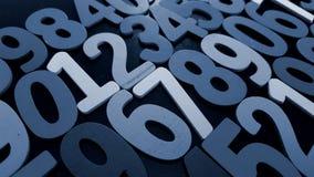 Hintergrund von Zahlen von null bis neun Hintergrund mit Zahlen Zahlbeschaffenheit Lizenzfreie Stockfotografie