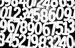 Hintergrund von Zahlen von null bis neun Hintergrund mit Zahlen Zahlbeschaffenheit Stockfoto