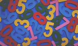 Hintergrund von Zahlen von null bis neun Hintergrund mit Zahlen Zahlbeschaffenheit Stockbilder