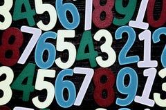 Hintergrund von Zahlen von null bis neun Hintergrund mit Zahlen Zahlbeschaffenheit Stockfotos