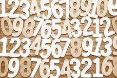 Hintergrund von Zahlen von null bis neun Hintergrund mit Zahlen Zahlbeschaffenheit Lizenzfreies Stockbild