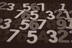 Hintergrund von Zahlen von null bis neun Hintergrund mit Zahlen Zahlbeschaffenheit Stockfotografie