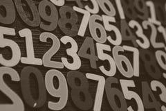 Hintergrund von Zahlen von null bis neun Hintergrund mit Zahlen Zahlbeschaffenheit Lizenzfreie Stockbilder