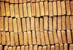Hintergrund von Ziegelsteinen, Baugewerbe Stockfotografie