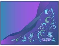 Hintergrund: Wasser, Basisrecheneinheiten und Blumen Lizenzfreies Stockbild