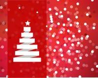 Hintergrund-Weihnachten, Weihnachtsbaum Lizenzfreie Stockfotografie