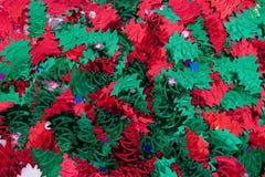 Hintergrund-Weihnachtsbäume Stockfoto