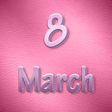 Hintergrund zum internationalen Tag der Frauen im Rosa Stockbilder