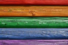 Hintergrund zur Wand des Holzes stockbilder