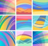 Hintergrundabstrakter Pastelldesignsatz Lizenzfreies Stockfoto