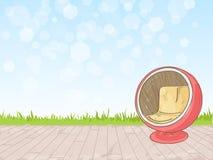 Hintergrundaquarellskizze von Möbeln Lizenzfreies Stockfoto