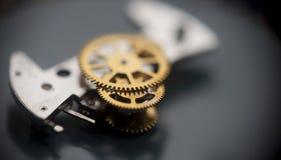 Hintergrundaufbau der Borduhr mechanism Lizenzfreie Stockfotografie