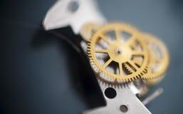 Hintergrundaufbau der Borduhr mechanism Lizenzfreie Stockfotos